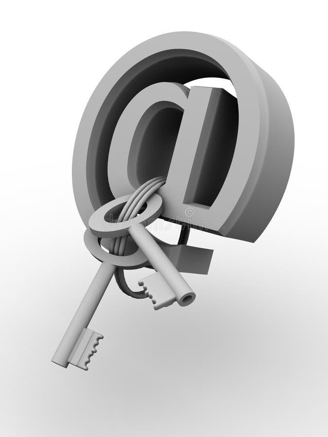 Símbolo para o Internet. chaves ilustração do vetor