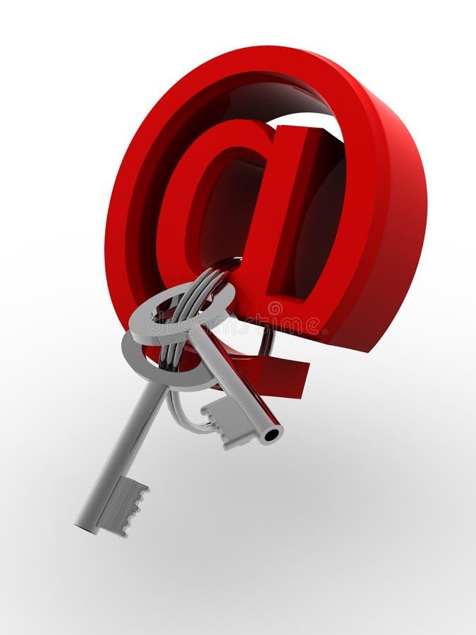 Símbolo para o Internet com chaves ilustração stock