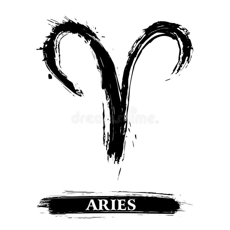 Símbolo pintado Grunge del aries libre illustration