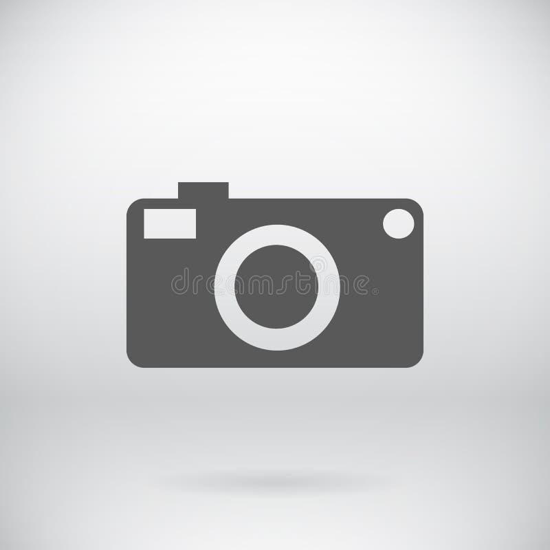 Símbolo plano de la cámara de vídeo de la foto del vector de la muestra de la cámara stock de ilustración
