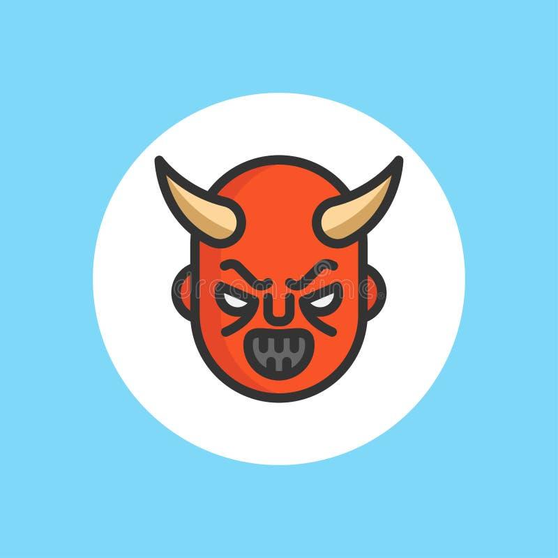 Símbolo plano de la muestra del icono del vector del diablo ilustración del vector