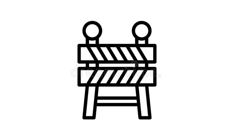 Símbolo plano del ejemplo del vector del icono de la barrera libre illustration