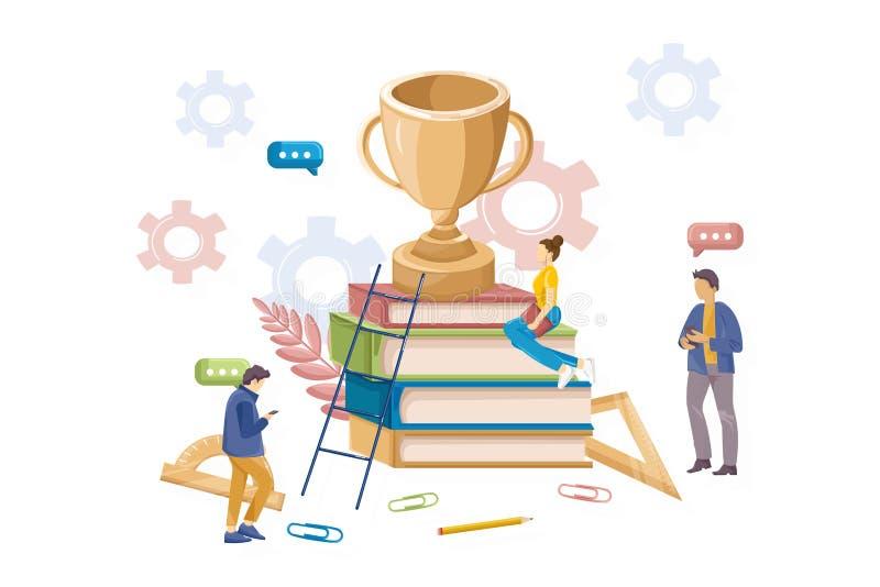Símbolo plano del estilo del conocimiento del vector premiado premiado de la competencia libre illustration