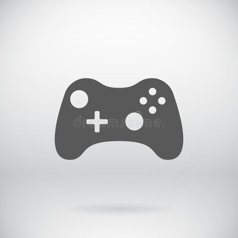 Símbolo plano del vector del icono de Joypad de la palanca de mando de Gamepad ilustración del vector
