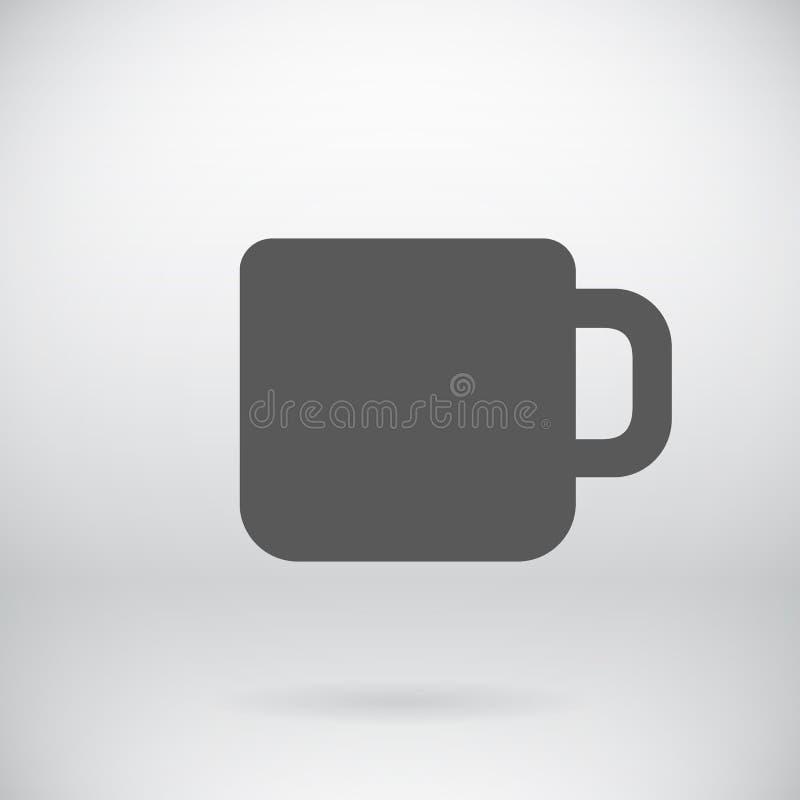 Símbolo plano del vector del icono de la taza de té de la taza de café libre illustration