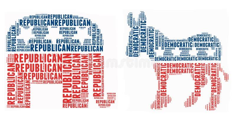 Símbolo político americano ilustração stock