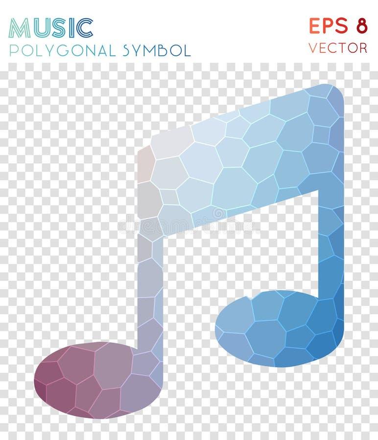 Símbolo poligonal da música ilustração royalty free