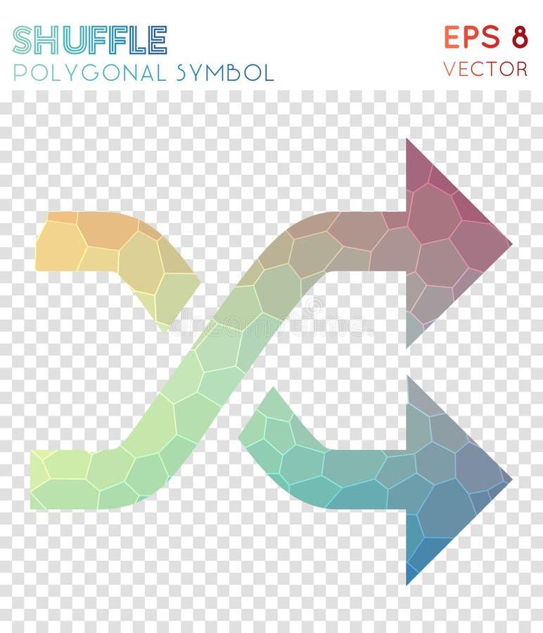 Símbolo poligonal do baralhamento ilustração royalty free