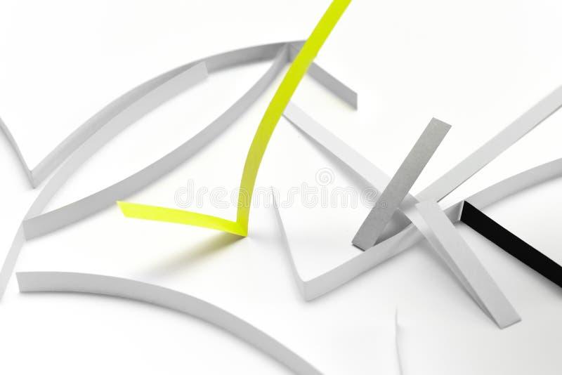 Símbolo positivo verde del control o de la señal, concepto para que positividad transporte el mensaje del resultado positivo imagen de archivo