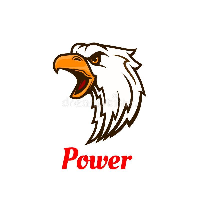 Símbolo principal gritando da águia para o projeto da tatuagem ilustração do vetor