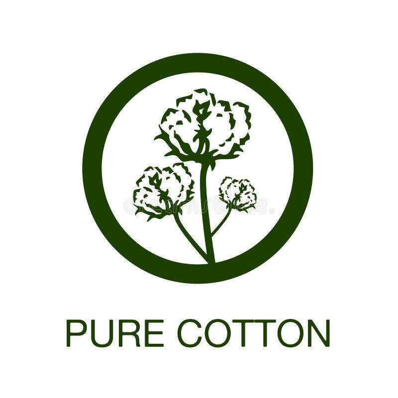 Símbolo puro da fabricação do algodão
