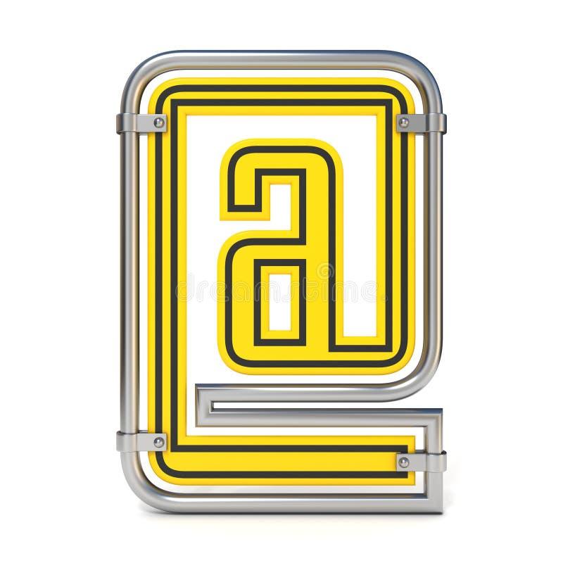 SÍMBOLO quadro 3D do EMAIL do sinal de estrada do tráfego ilustração royalty free