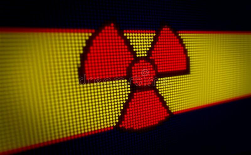 Símbolo radioativo conduzido ilustração royalty free