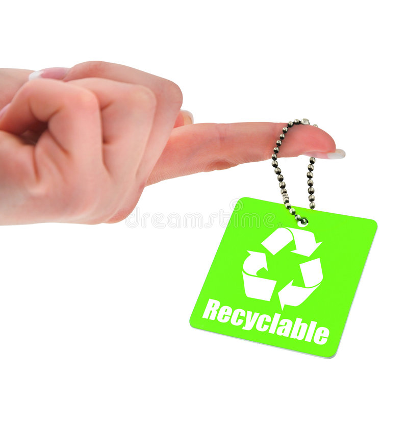 Símbolo reciclable fotos de archivo libres de regalías