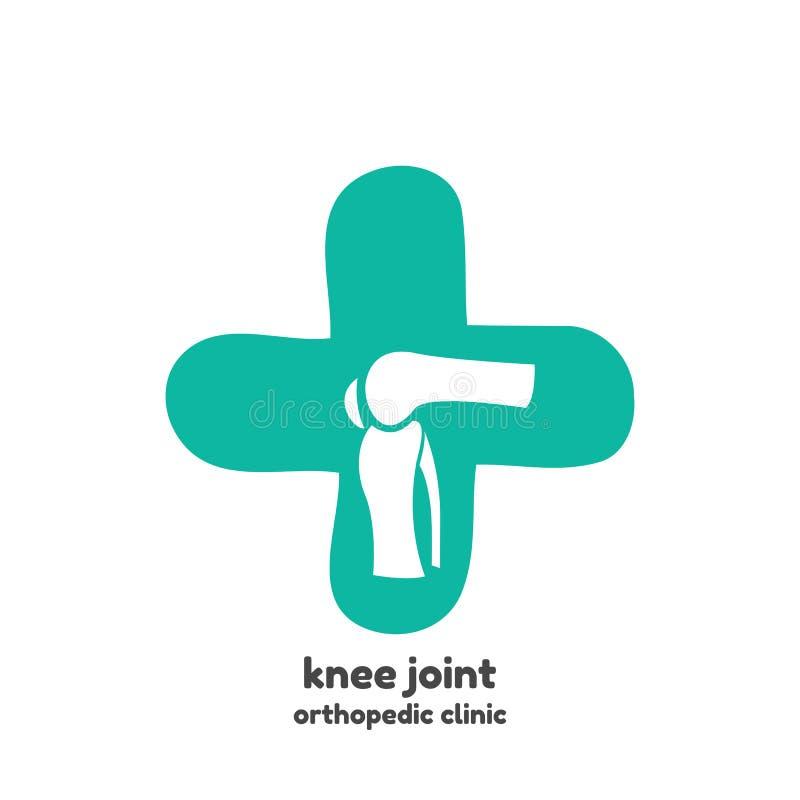 Símbolo redondo de los huesos de la junta de rodilla libre illustration
