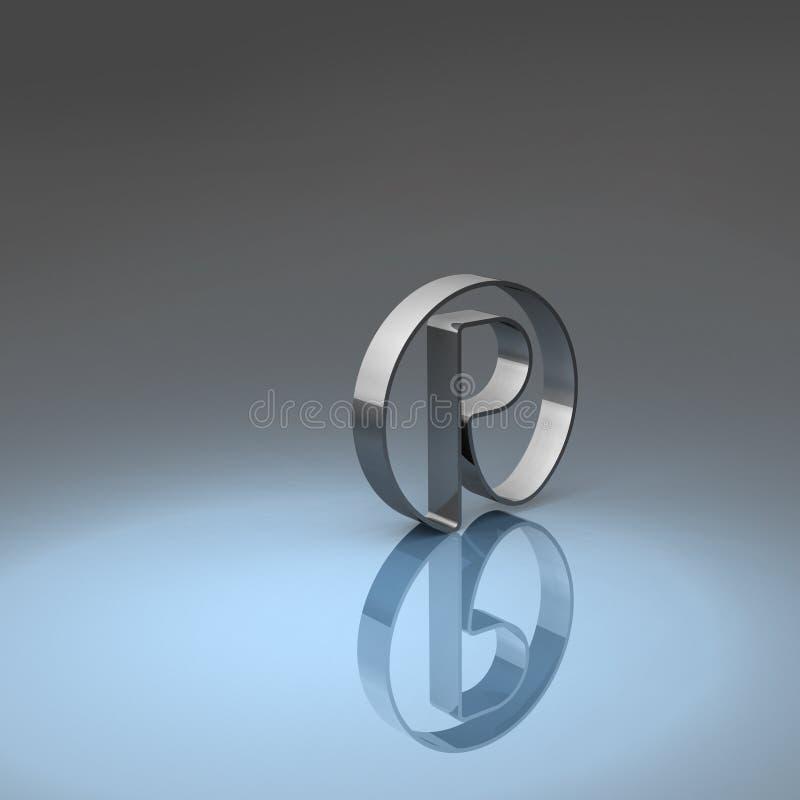 Símbolo registado ilustração royalty free