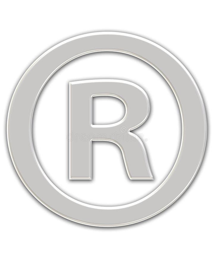 Símbolo registado ilustração do vetor