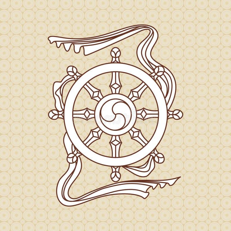 Símbolo religioso stock de ilustración