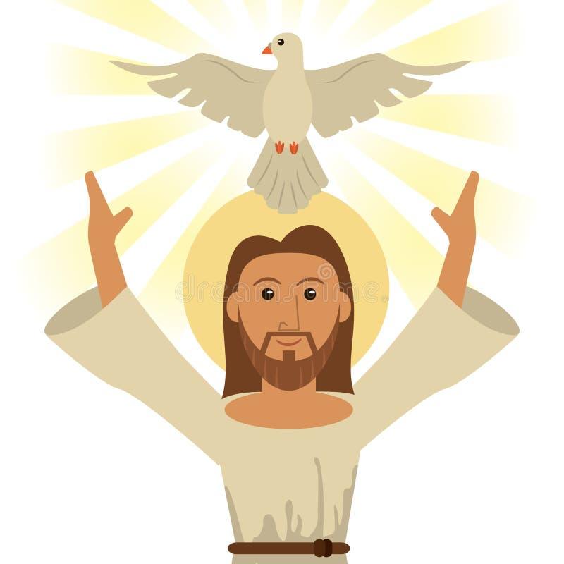 Símbolo religioso do Espírito Santo de Jesus christ ilustração stock