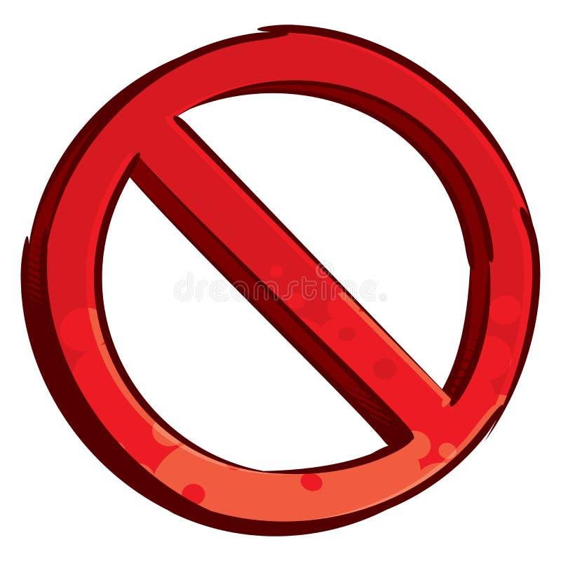 Símbolo restricto stock de ilustración
