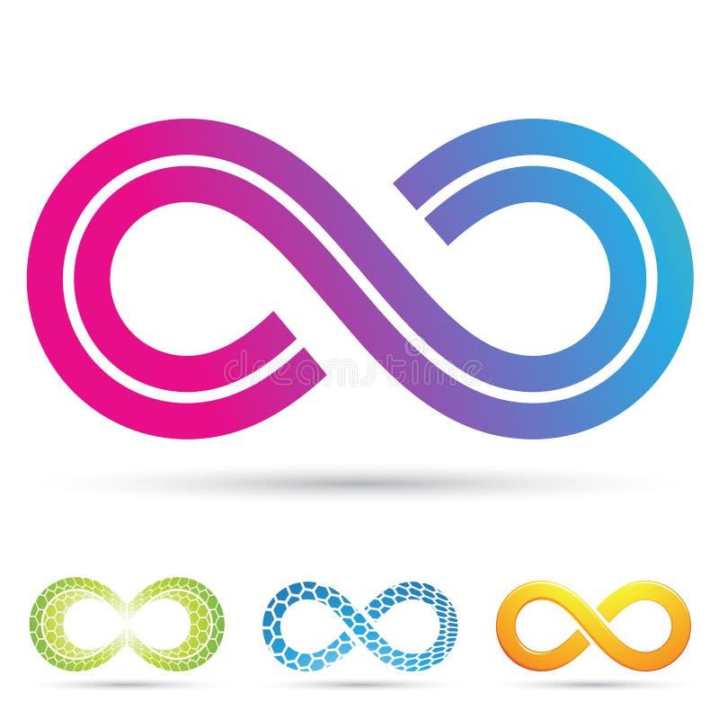 Símbolo retro del infinito del estilo ilustración del vector