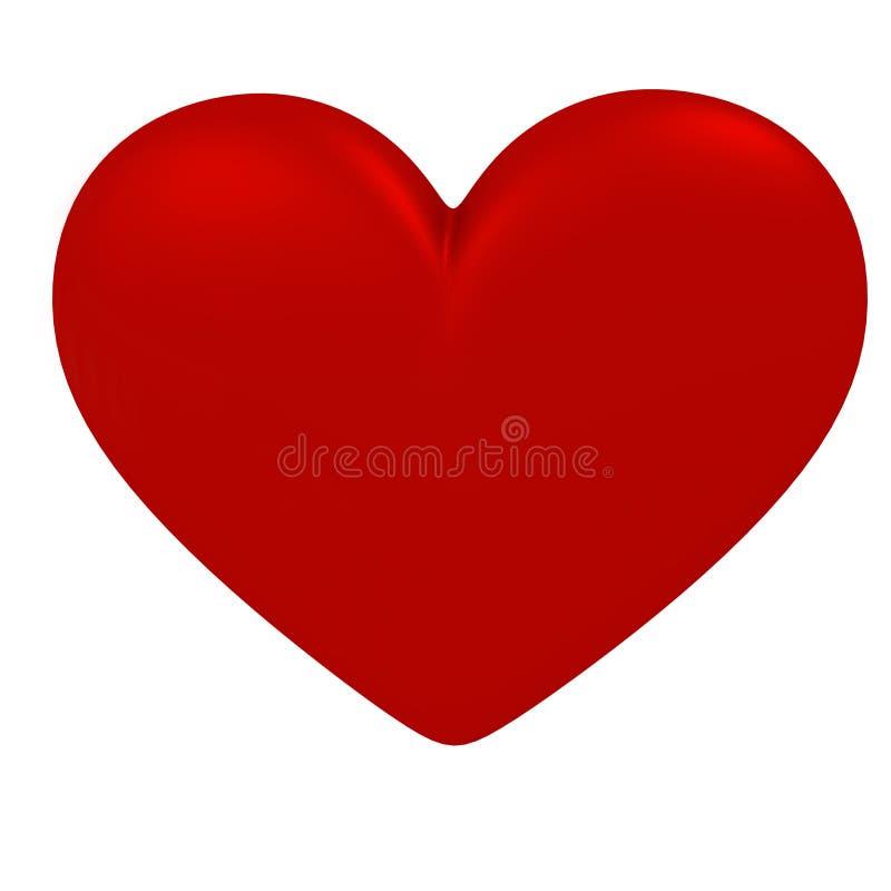Símbolo rojo del corazón en un fondo blanco foto de archivo libre de regalías