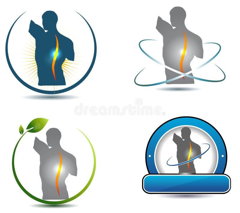 Símbolo sano de la espina dorsal ilustración del vector