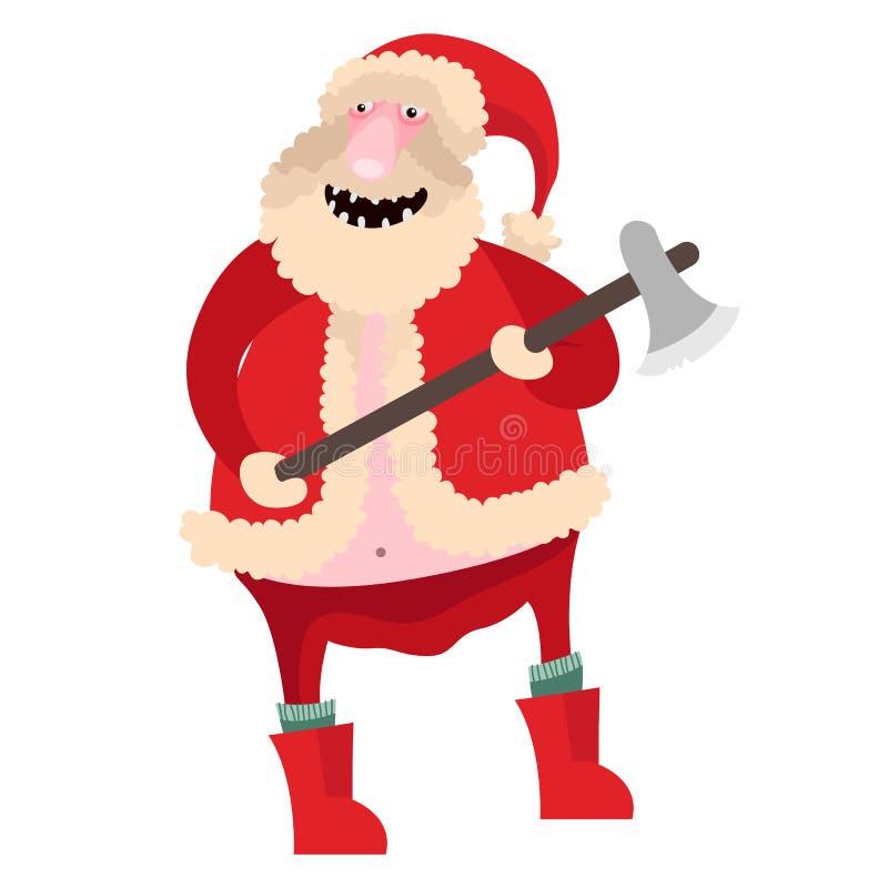 Símbolo Santa Claus Christmas da arte do vetor ilustração royalty free