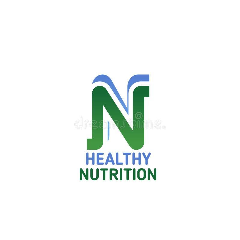 Símbolo saudável da nutrição para o alimento natural e a dieta ilustração royalty free