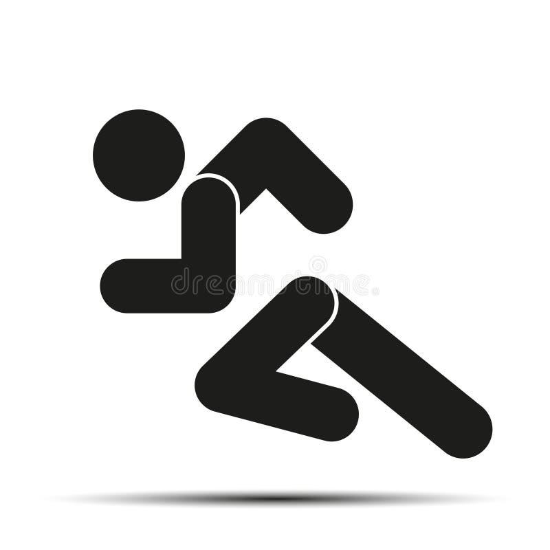 Símbolo simple de la gente corriente del funcionamiento aislado en a stock de ilustración