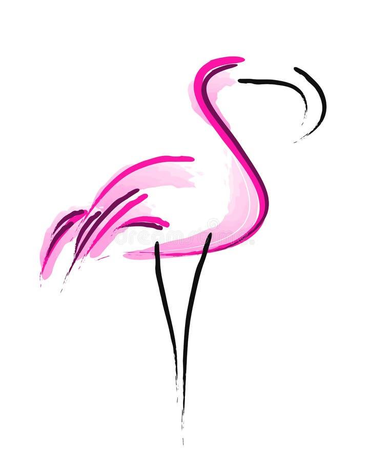 Símbolo simple de los flamencos ilustración del vector