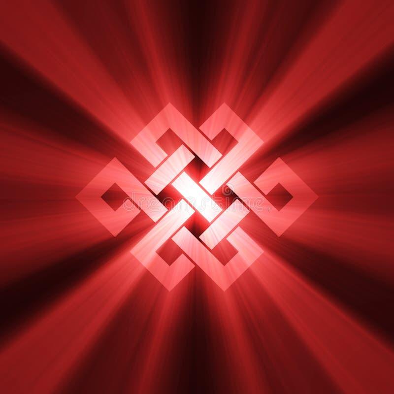 Símbolo sin fin del nudo con halo ligero libre illustration