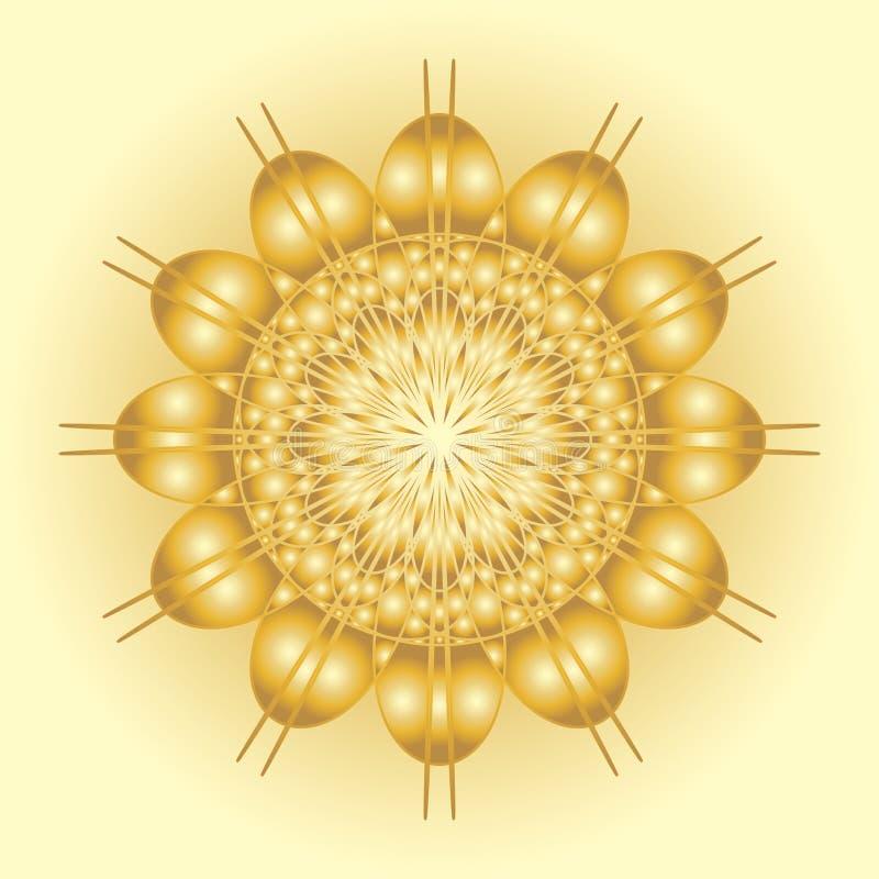 Símbolo solar abstrato ilustração royalty free