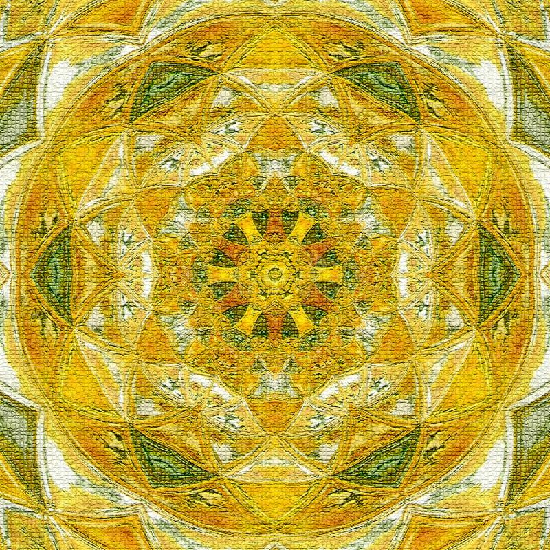 Símbolo soleado de la mandala de la suerte y de la felicidad imagen de archivo