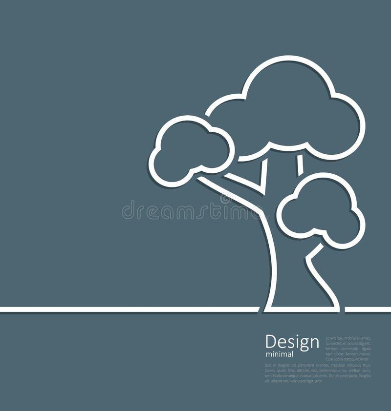 Símbolo solo permanente del árbol, página web del diseño, plantilla del logotipo libre illustration