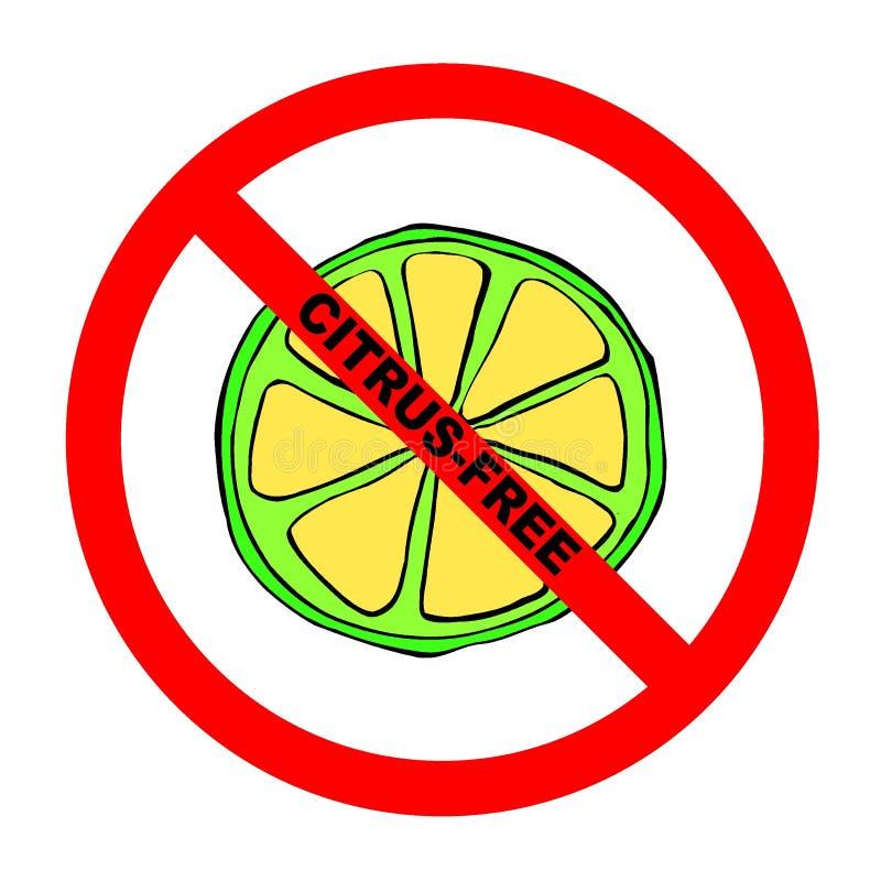 Símbolo: Texto Fruta-Libre ilustración del vector