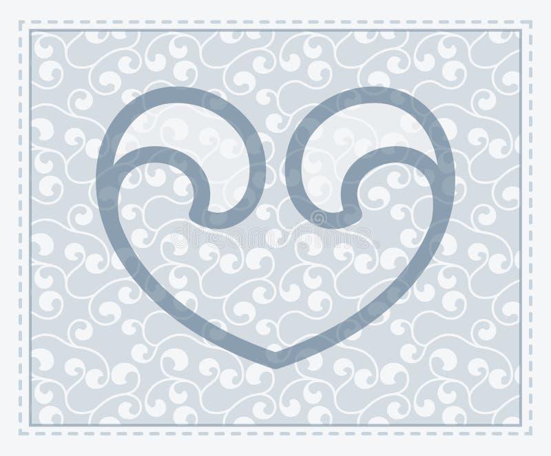 Símbolo transparente del corazón del vector en backgr inconsútil ilustración del vector