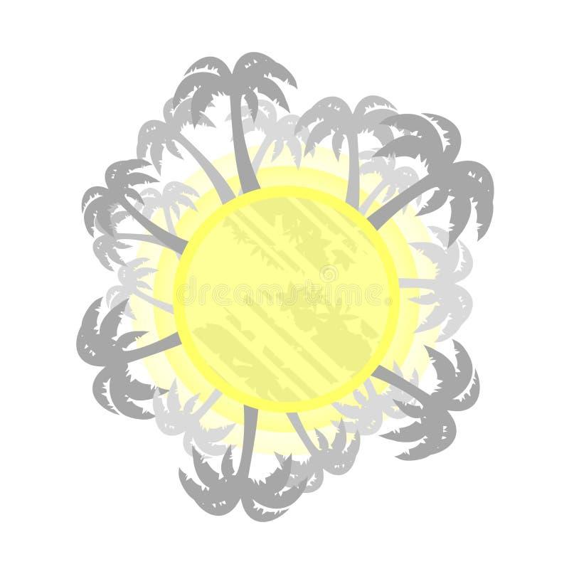 Símbolo tropical ilustração stock