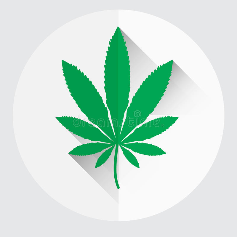 Símbolo verde aislado eps10 de la hoja de la marijuana libre illustration