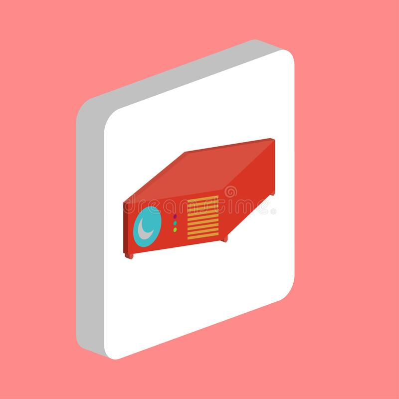 Símbolo video do computador do projetor ilustração stock