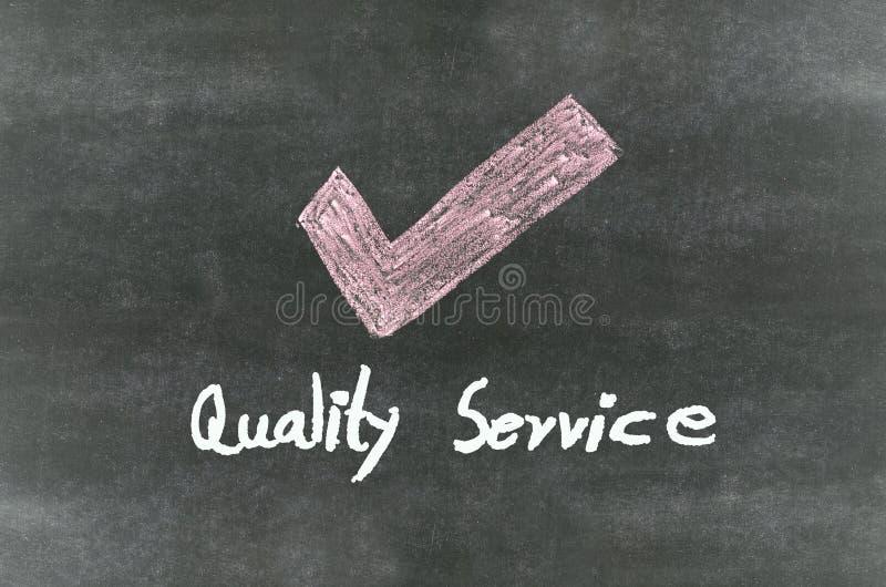 Símbolo y palabra de la marca de cotejo imagen de archivo
