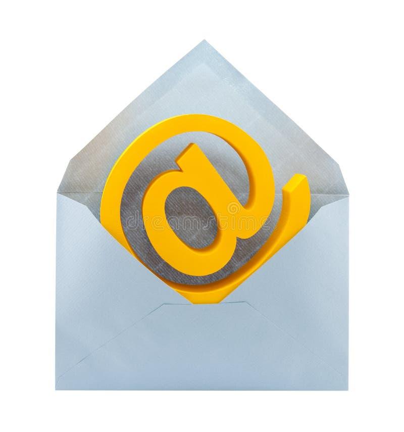Símbolo y sobre del email imagen de archivo