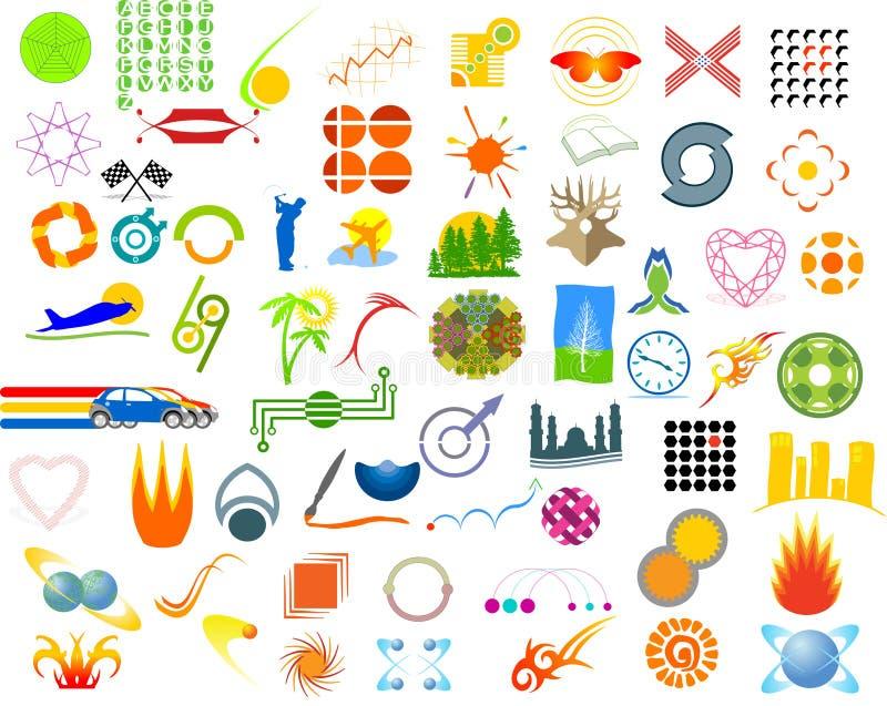 Símbolos ilustração stock