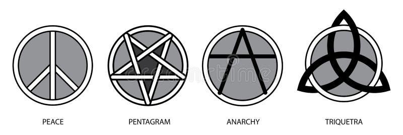 Símbolos 2 ilustração stock
