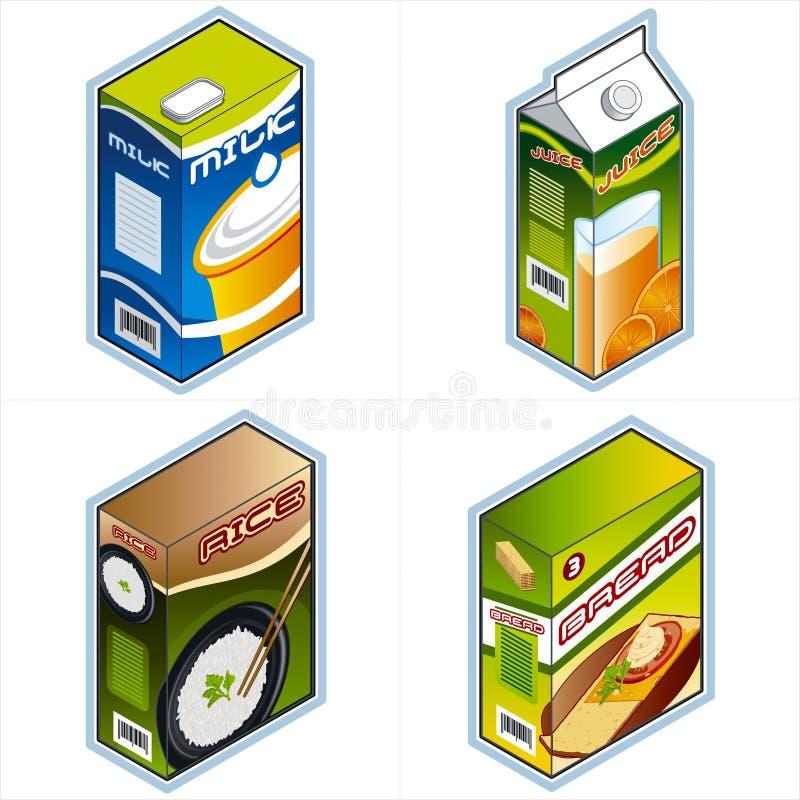 Símbolos 34a. Iconos de la tienda de comestibles ilustración del vector