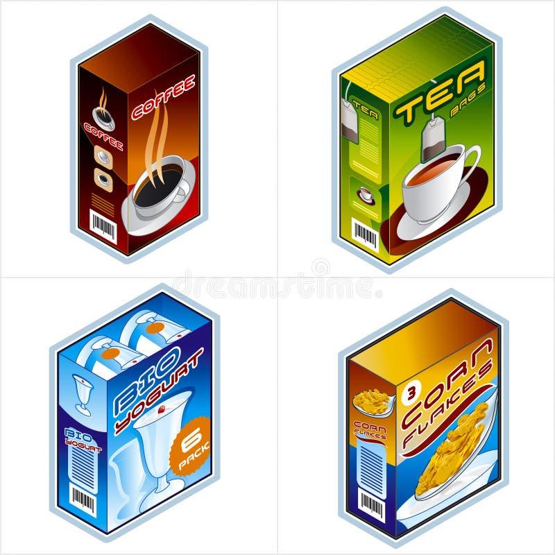 Símbolos 34b. Iconos de la tienda de comestibles stock de ilustración