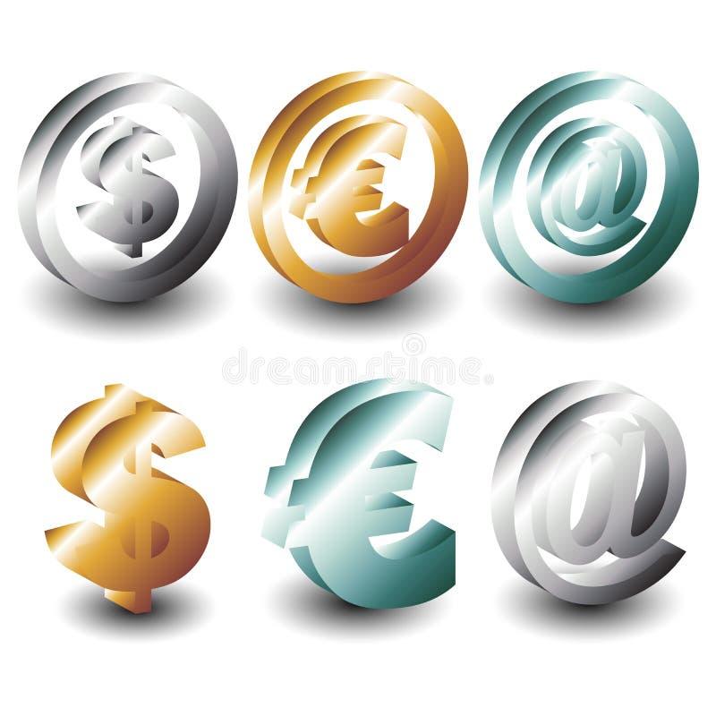 símbolos 3D stock de ilustración