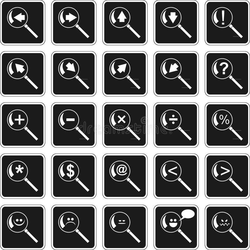 Símbolos ilustração royalty free