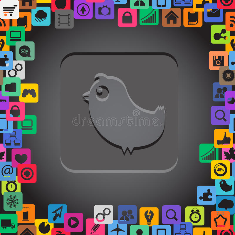 Símbolos abstratos de uma comunicação ilustração stock