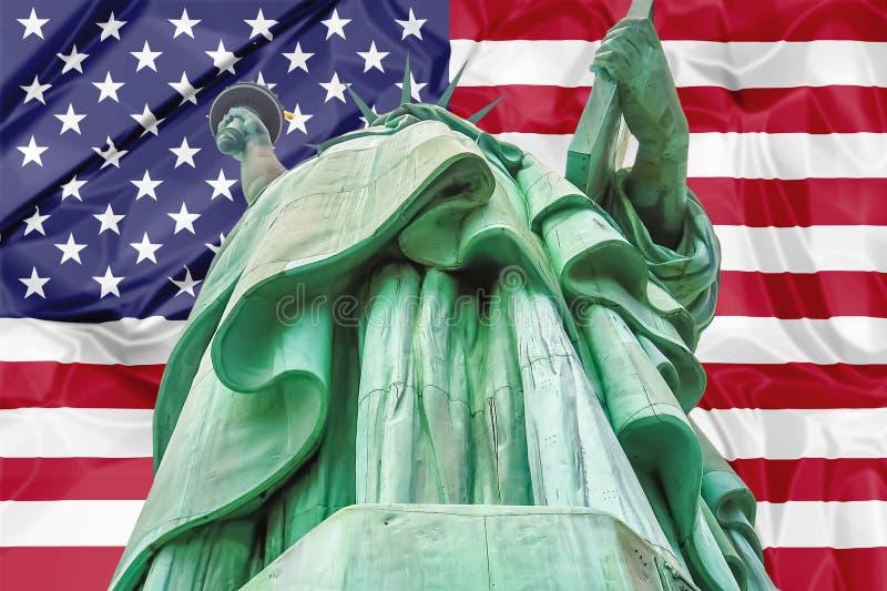 Símbolos americanos de la libertad imagenes de archivo